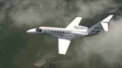 Cessna Citation CJ4 Air to Air Above Stock Footage