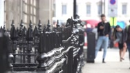Typical London street view Stock Footage