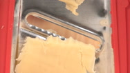 Cheese grater closeup Stock Footage