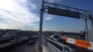 Ramp to Terminal 2 of London Heathrow Airport Stock Footage