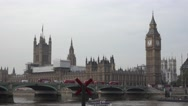 The Houses of Parliament and Queen Elizabeth Tower Big Ben Stock Footage
