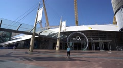 O2 Arena at North Greenwich London Stock Footage