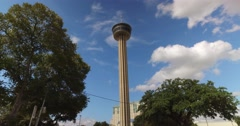 Driving to the Tower of the Americas in San Antonio Texas  	 Stock Footage
