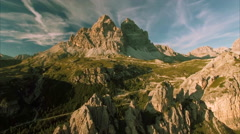 Tre Cime aerial view Stock Footage