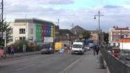 Streetview Southall near London Stock Footage