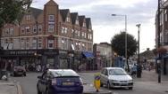 Southall street corner near London Stock Footage