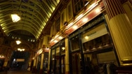 Beautiful Leadenhall Market in the City of London Stock Footage