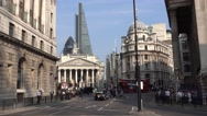 Street view at Bank Station London Stock Footage