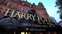 Harry Potter Musical in London - The Cursed Child Stock Footage