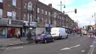 Indian shops at Southall Broadway Stock Footage
