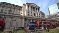 The Bank of England in the City of London Stock Footage