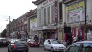 Streetview at Southall Broadway Stock Footage