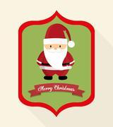 Santa of Christmas season design Stock Illustration