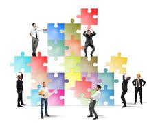 Team of businesspeople build a new company Stock Photos