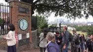 Greenwich Observatory in London Stock Footage