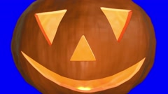 Pumpkin halloween spooky trick or treat face carved haloween punkin 4k Stock Footage