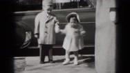 1949: children are seen having fun in garden area MIDDLETOWN Stock Footage