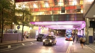 Colordul DLR station at Canary Wharf London Stock Footage