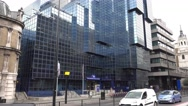 The modern Northern and Shell Building in the City of London Stock Footage