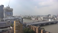 Amazing aerial view over London from Tate Modern Gallery Stock Footage