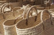 Baskets made of cattail fibers Stock Photos