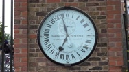Clock at Greenwich Observatory in London Stock Footage