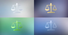 Justice Scales 3d Icon Stock Footage