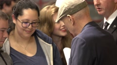 Meet and greet with actor Patrick Stewart in London Stock Footage
