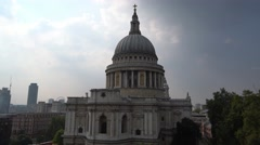 St Pauls Cathedral London Stock Footage