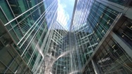 Modern architecture at Canary Wharf London Stock Footage