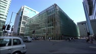 Modern Third Space building at Canary Wharf London Stock Footage