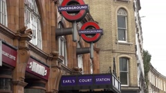 London Earls Court station - London Underground Stock Footage