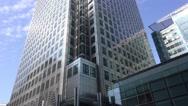Impressive One Canada skyscraper at Canary Wharf Stock Footage