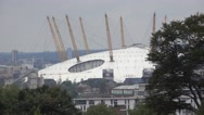 O2 Arena in London North Greenwich Stock Footage