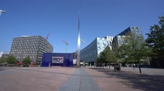 The Spire at Peninsula Square at the O2 North Greenwich Stock Footage