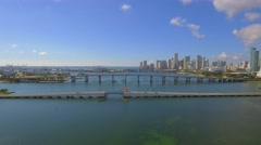 Aerial footage Downtown Miami Stock Footage