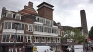 Shakespeares Globe Theatre in London Stock Footage