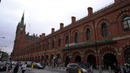 Kings Cross St Pancras stations in London Stock Footage