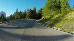 Driving scenic route in the Dolomites Stock Footage