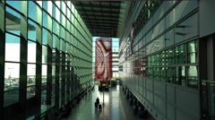 Modern architecture at Terminal 3 of London Heathrow Airport Stock Footage