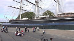 Cutty Sark museum ship at Greenwich Stock Footage