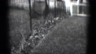 1949: large estate with several brick buildings MIDDLETOWN Stock Footage