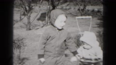 1949: siblings are seen playing outdoor and posing MIDDLETOWN Stock Footage