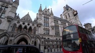 The Royal Courts of Justice in London Stock Footage