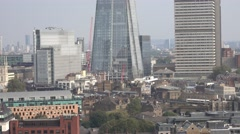 Aerial view from Tate Modern Gallery over Southwark Stock Footage