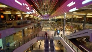 Amazing Westfield Shopping Center - wide angle view Stock Footage