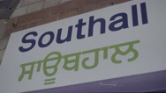 Platform at Southall station Stock Footage