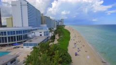 Flying over Miami Beach FL Stock Footage