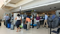 Boston Logan International Airport in Boston, Massachusetts, USA Stock Footage