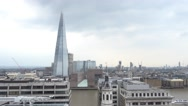 The Shard Building in London - aerial view from Monument Stock Footage